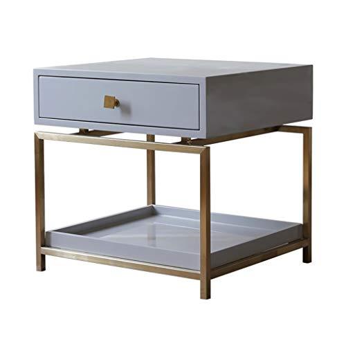 Table De Chevet De Léger Bois De Pin Qualité Or Cadre en Métal Doré Hôtel Home Studio Mobilier Simple