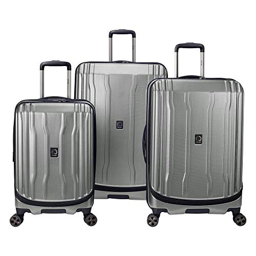 DELSEY Paris Cruise Lite Hardside 2.0 Expandable Luggage, Spinner Wheels, Platinum, 3-Piece Set (21/25/29)