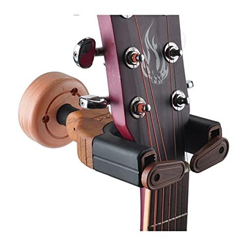 Universal y portátil Perchas de guitarra Holder Holder Goma de madera Perchas de instrumentos de madera Soporte de pared para guitarras Bass Ukulele Cadena Accesorios de instrumentos Desmontable y fác
