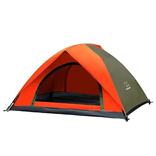 YITING Zelte for Camping wasserdicht, vollautomatische Geschwindigkeitsoffene zweilagige Außenzelt, PU wasserdicht Oxford Tuch 190T Schattierungsbeschichtung, Reise Strandzelt (Color : A)