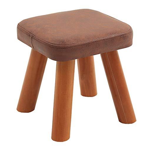 LJFYXZ Sitzwürfel Hocker Cube mit Schuhbank aus massivem Holz Schwammfüllung mit hoher Dichte Bequem und atmungsaktiv Laden Sie 100kg Sofa Hocker (Farbe : Dunkelbraun, größe : 28cm)