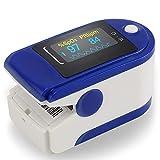 Oxymètre de pouls, Mesure de la Saturation en oxygène du Sang, Affichage OLED Moniteur d'oxygène du Sommeil avec Alerte de Vibration pour Le et l'apnée, Oxymètre de pouls Bluetooth