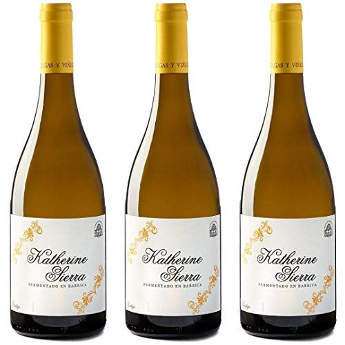 Katherine Sierra Vino Blanco Fermentado En Barrica - 3 Botellas - 2250 Ml