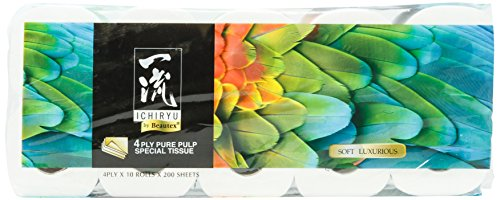 Beautex Ichiryu 4 PLY Bathroom Tissue, 200ct (Pack of 10)