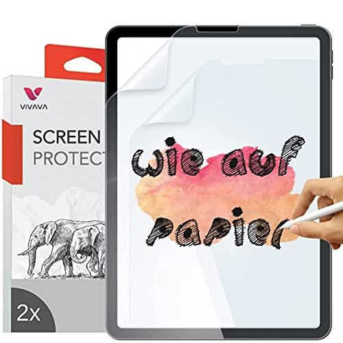 VIVAVA (2 Stück) matte Paper-like Folie für iPad Pro 12,9 Zoll (2021, 2020, 2018) Bildschirmfolie Schutzfolie zum Schreiben, Zeichnen & Skizzieren wie auf Papier