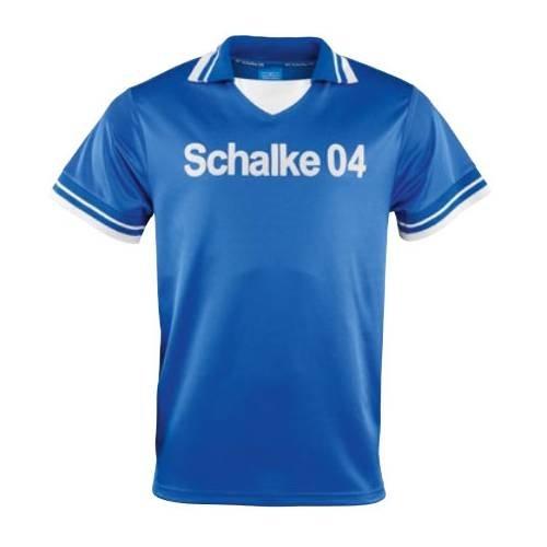 Schalke 04 FC Retro Trikot Fischer 70er Jahre königsblau, S