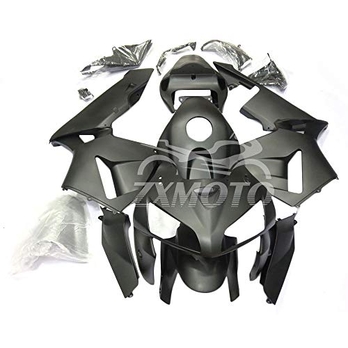 ZXMOTO Motorcycle Bodywork Fairings Kit for 2005 2006 Honda CBR 600RR F5,Painted Matte Black