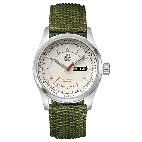 Luminox Men's Watch Atacama Field Automatic 1907.NF: 44mm Stainless Steel Case Green Webbing Strap 200 M Water Resistant