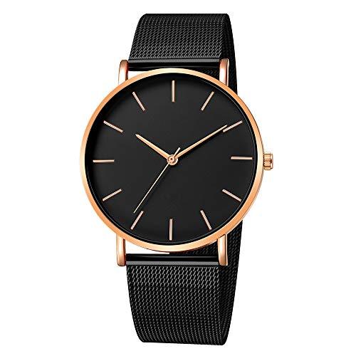 Quartz Uhren für Herren, Skxinn Männer Armbanduhr Zifferblatt Analog Business Minimalistische Quartz Armbanduhren mit Edelstahl Band Ausverkauf(G,One Size)