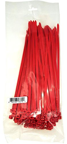 Cambridge Cable Ties 8' 50 Lbs 100 Pcs, Standard Duty, Red
