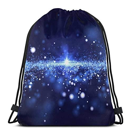 XCNGG Blue Neblua Remake Space Travel Mochila con cordón Mochila Gimnasio Mochila Bolsas de hombro para nadar Senderismo Yoga