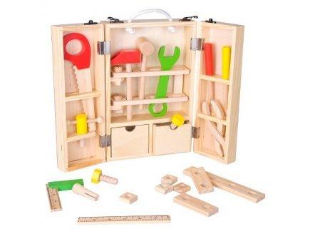 Classic World Valisette Outils et Accessoires en Bois - Mallette Bricolage Enfant