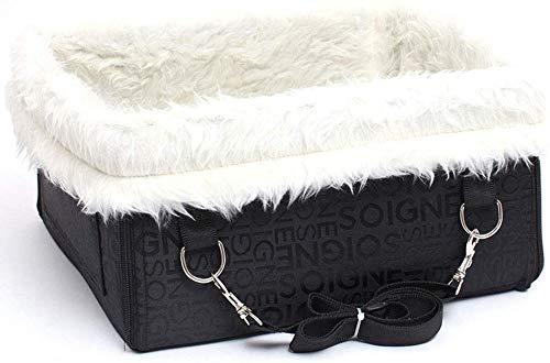 YLCJ mand, inklapbaar, eenvoudig te installeren, voor huisdieren, installatie van de gordel; overtrek voor autostoelverhoging voor huisdieren, reizen, hangmat, bruin, M, Large, Zwart