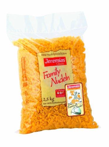 Jeremias Fußballnudeln, Family Frischei-Nudeln, 1er Pack (1 x 2.5 kg Beutel)