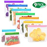 Mlife Reusable Food Storage Bag Set -Liquid Sandwich Snack Bacon Fruit Bags,Freezer Airtight Seal,Ideal for...