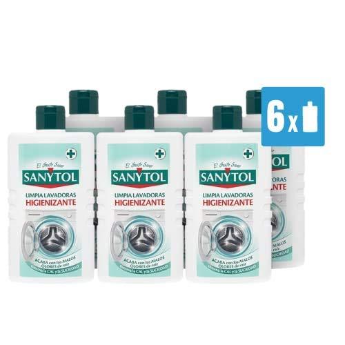 Sanytol - Limpia Lavadoras Higienizante - Pack de 6 Envases de 250ml - Total 1500 ml