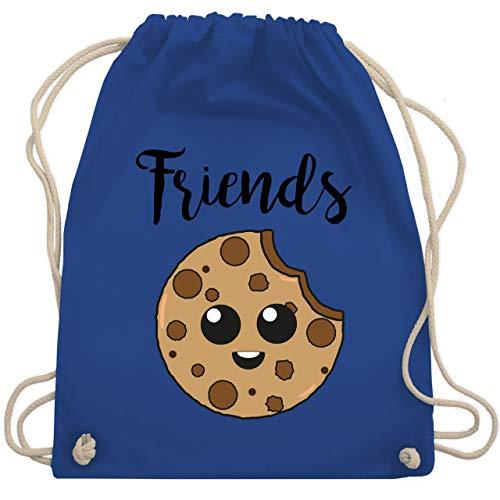 Shirtracer Partner-Look Familie Kind - Best Friends Cookies - Friends - Unisize - Royalblau - Partner-Look - WM110 - Turnbeutel und Stoffbeutel aus Baumwolle