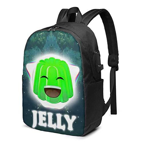 Hdadwy Jelly Time Leisure USB 17in Backpack Laptop Adjustable Shoulder Busin Travel School