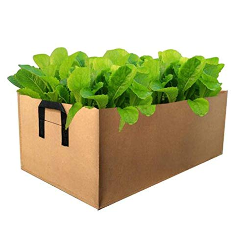 Fabric Raised Garden Bed,Square Flower Grow Bag Vegetable Planting Bag Planter Pot Handles for...