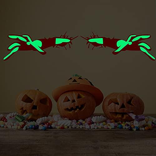 LIZHOUMIL Pegatina de pared para fiesta de Halloween, papel pintado para el hogar o el salón, pegatinas luminosas que brillan en la oscuridad