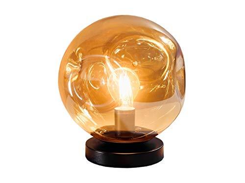 Nachttischlampe Tischleuchte Tischlampe   Glas   Metall   Bernsteinfarben