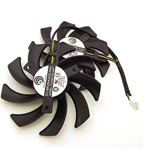 A Set PLD09210D12HH DC12V 0.40A 85mm For XFX R9 380 280X 270X 290X Graphics Card Cooling Fan 4Pin