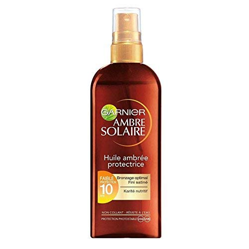 GARNIER - Ambre Solaire - Huile Ambrée Protectrice FPS10 - Spray 150ml