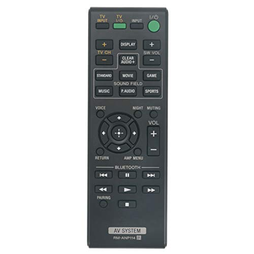 Replacement Remote Control RM-ANP114 for Sony Soundbar Sound Bar HT-CT770, HT-CT370, HT-CT380, SA-CT770, HT-CT780