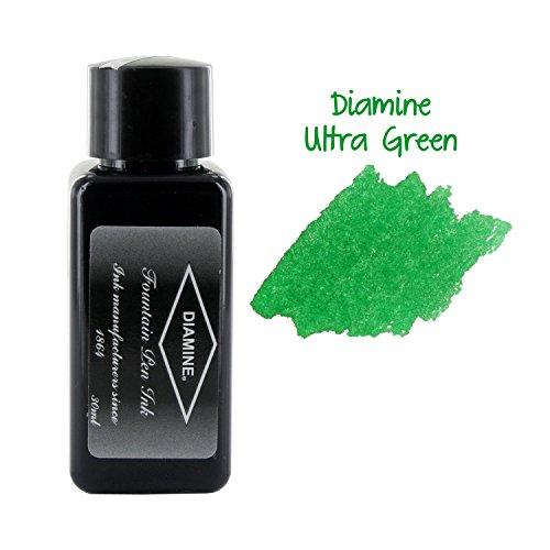 Diamine - Tinta para estilográfia, Green Black 30ml
