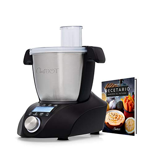 IKOHS CHEFBOT Compact - Robot de Cocina Multifunción, Compacto, Cocina al Vapor, 23 Funciones, 10 Velocidades con Turbo, Bol de Acero Inoxidable 2,3 L, Libre BPA (con Recetario - Negro)