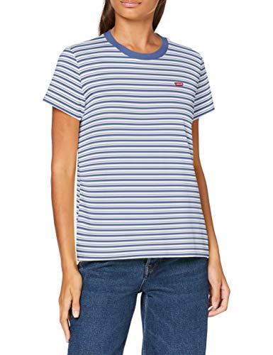 Levi's Damen Perfect Tee T-Shirt, Silphium Colony Blue, Large