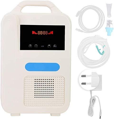 LALEO YRBDSA Concentrador de oxígeno, 1-1L / min 55% ± 3 (1L) Flujo de oxígeno Puro con Máquina de oxígeno portátil Ajustable para Uso doméstico y de Viaje