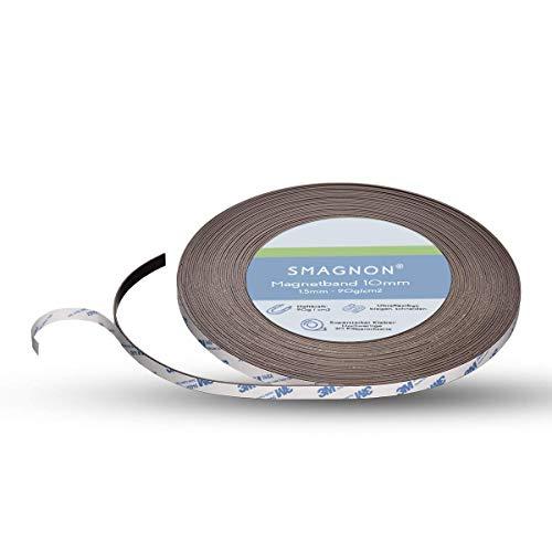 Smagnon magnetband mit 3M Kleber Kleberücken - DAS SMAGNON ORIGINAL - verschiedene Breiten & Längen - Magnetstreifen (3 Meter - Typ A, 10mm breite)