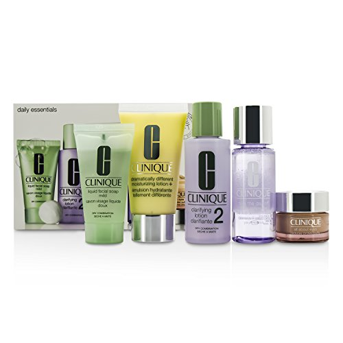 Daily Essentials Set - Dry Combination Skin by Clinique for Unisex - 5 Pc Set