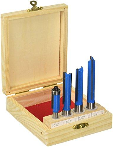 Silverline 250589 Küchenbau-Fräser, Blau, 4-tlg. Satz 12 u. 8 mm