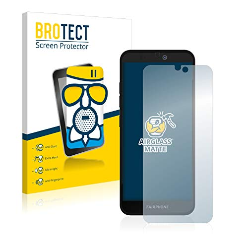 BROTECT Entspiegelungs-Panzerglasfolie kompatibel mit Fairphone 3 Plus - Anti-Reflex Panzerglas Schutz-Folie Matt