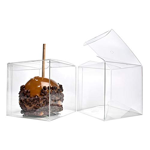 "4"" x 4"" x 4"" Candy Apple Box With Hole Top 