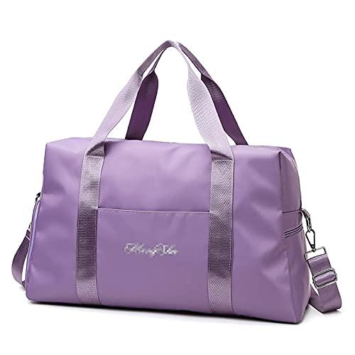 ATRNA Bolsa Deporte, Bolsas Gimnasio Bolso Fin de Semana Viaje con Compartimento para Zapatos Gym Bag Impermeable