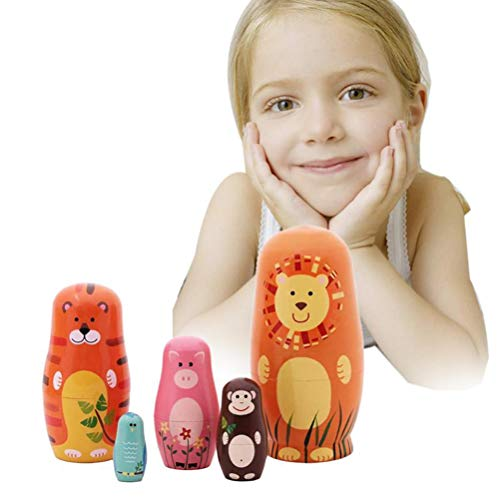 FuYouTa russische Nesting Dolls stapeln Spielzeug Puppe Cartoon Nette Tiere Engel Muster russische stapelpuppen Kinder Spielzeug Geschenk Dekoration holznistpuppen