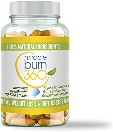 Miracle Burn 360 Weight Loss Supplement Pills for Women Supports Fat Burn Appetite Suppressant product image