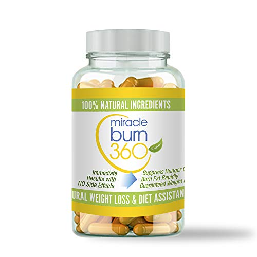 Miracle Burn 360 Weight Loss Supplement Pills for Women, Supports Fat Burn, Appetite Suppressant Aid Diet Pills, New All-Natural Ingredients, Helps Boost Metabolism - (1 Bottle, 30 Pills)