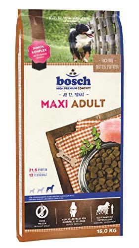 bosch HPC Maxi Adult | Hundetrockenfutter für ausgewachsene Hunde großer Rassen (ab 25 kg) | 1 x 15 kg