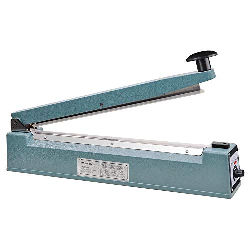 """16"""" (400mm) Impulse Sealer Anti-rust Iron Body Shell - Cellophane Bag Sealer with Spare Kit (Included)"""