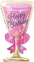 HOUZE Birthday Glass Foil Balloon