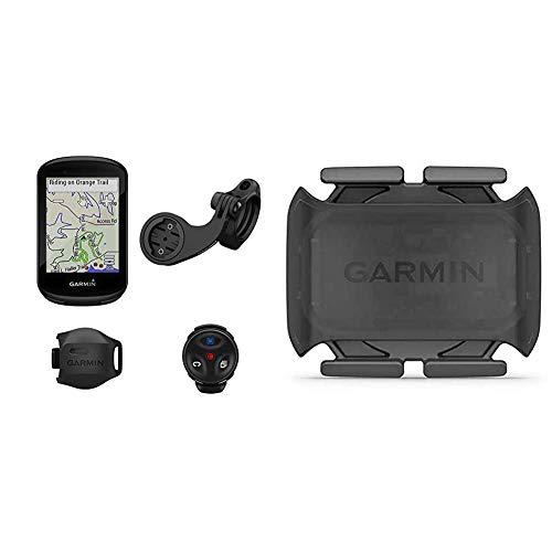 Garmin Edge 830 Mountain Bike Bundle, Performance Touchscreen GPS Cycling/Bike Computer with Mapping & Mountain Bike Mount & Cadence Sensor 2, Bike Sensor to Monitor Pedaling Cadence