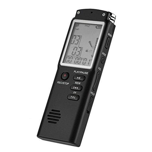 Grabadora de voz digital, grabación estéreo conveniente oficina IC grabadora para oficina para grabadora para grabación de voz (8G)