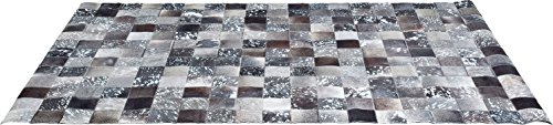 Kare Design Teppich Cosmo Grey Fur, 200x300 cm, Kuhfellteppich, Patchworkteppich,Used-look, moderner Teppich, Kolonial Teppich, (H/B/T) 1x200x300cm