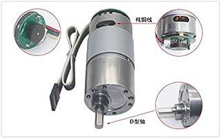 NO LOGO W-Shuzhen 1pc 12VDC 8-1000RPM Couple /élev/é Vitesse R/éducteur Moteur avec encodeur Holzer et m/étal Bo/îte de Vitesse Codeur Motor/éducteur Couleur : 47 RPM, Taille : 12VDC