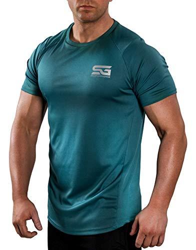 Satire Gym Fitness T-Shirt Herren - Funktionelle Sport Bekleidung - Geeignet Für Workout, Training - Slim Fit (XXL, Petrol grün)