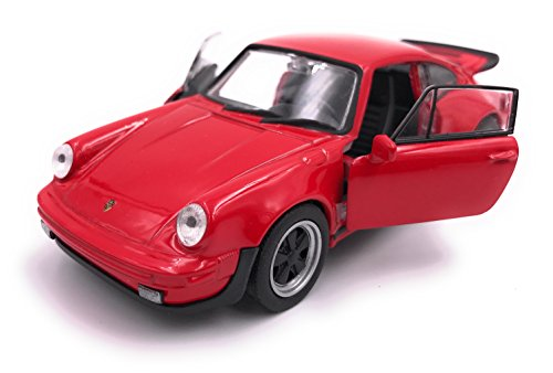 Welly Porsche 911 Turbo 930 1975 Modellauto Auto Lizenzprodukt 1:34-1:39 rot